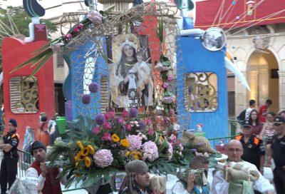 Ofrenda de Flores a la Virgen del Carmen 2019, Patrona de las Fiestas de Hogueras y Barracas