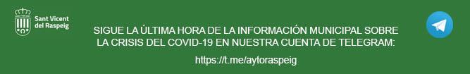 Telegram Ayuntamiento de San Vicente del Raspeig